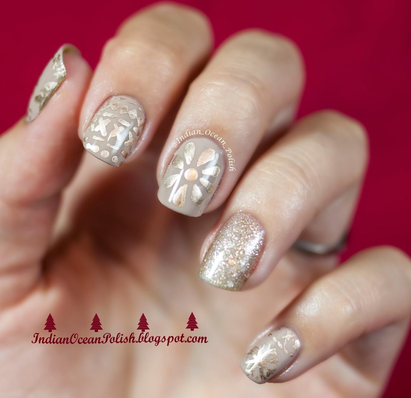 Christmas Finger Nail Art: Indian Ocean Polish: Christmas 2013 Nail Art Ideas: Simple