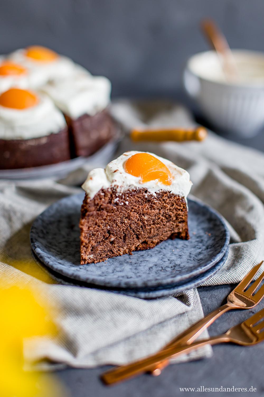 Schokoladiger Spiegeleier Kuchen Zum Osterfest Alles Und Anderes