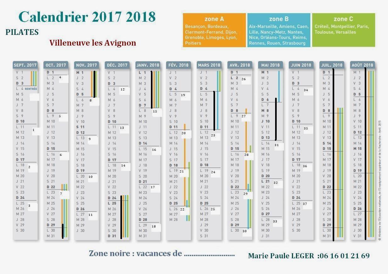 calendrier scolaire vaucluse