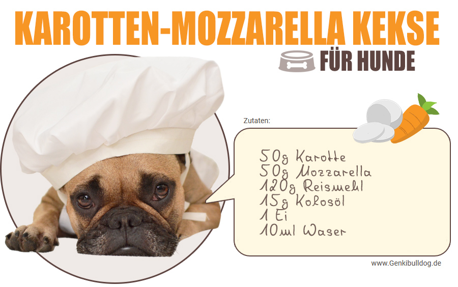 Rezept: Karotten-Mozzarella Hundekekse selbst backen