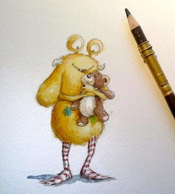 Kommoß, Loni, Pumpf, Kinderbuchillustration, aquarell