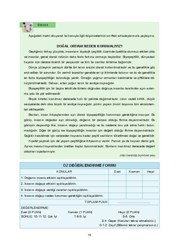 9. Sınıf Coğrafya Ders Kitabı Cevapları Fersa Yayınları Sayfa 16