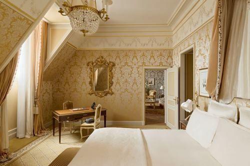 Beautiful luxurious guest suite at Ritz Paris Hotel