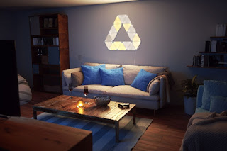 NANOLEAF AURORA example - living room