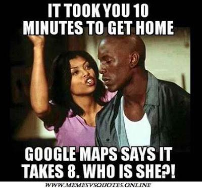 Google maps says it