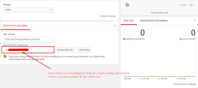 Cara Live Streaming Di Youtube Memakai Obs Studio Di Pc Atau Laptop