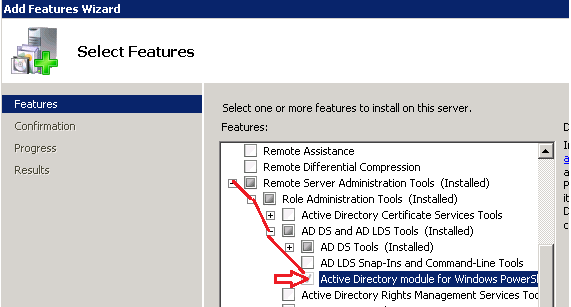How to Install Active Directory module for PowerShell