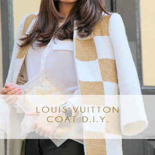 Louis Vuitton coat diy