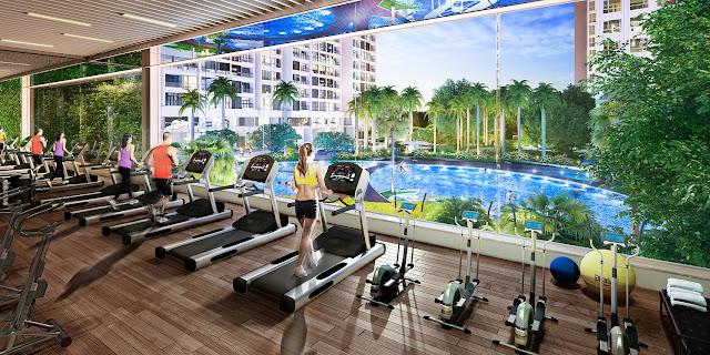 Phòng tập Gym chung cư Booyoung Vina