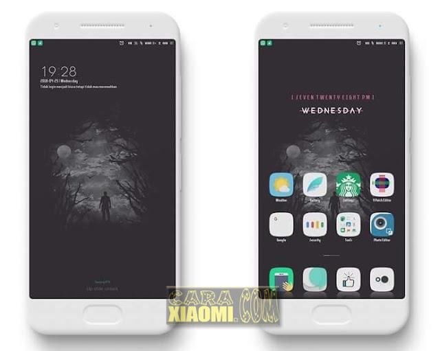 Tema MIUI Lonely Mtz Terbaru For V9 Untuk Merubah Thema Xiaomi