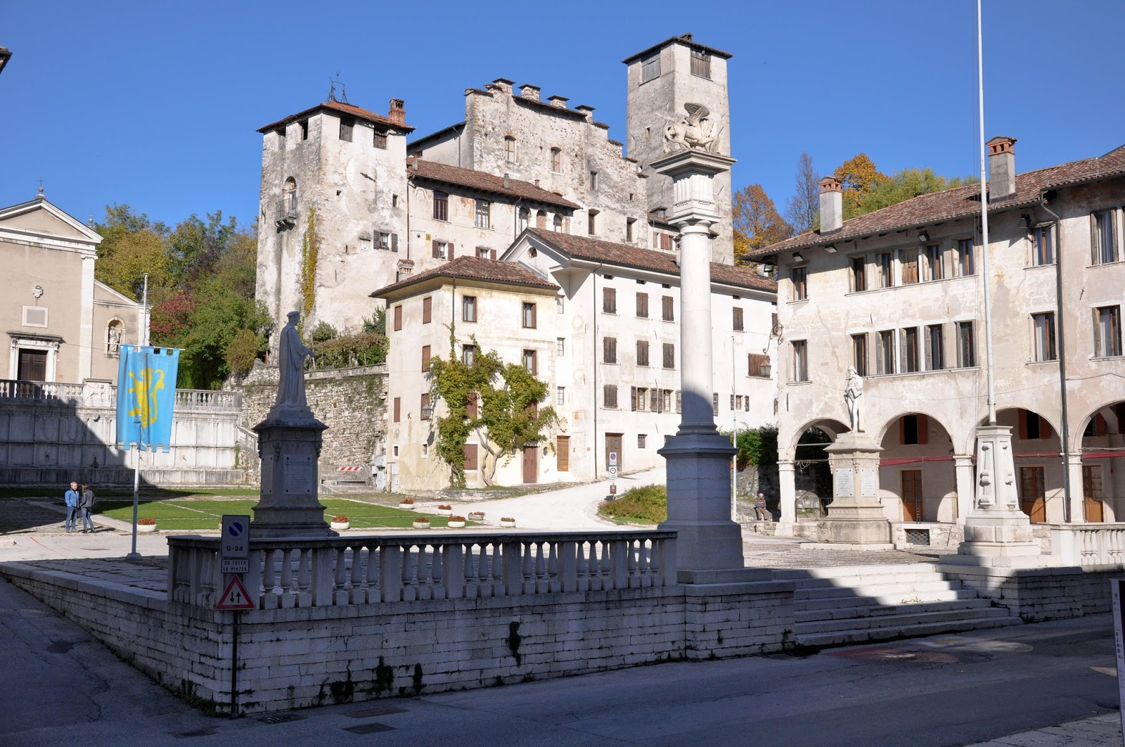 The main square, Feltre, Veneto, Italy