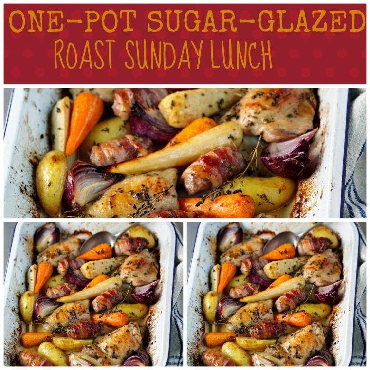 One Pot Sugar-Glazed Roast Sunday Lunch