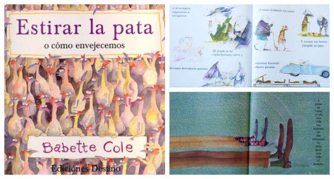 Libro infantil para tratar la muerte como aprte de la vida: estirar la pata Babette Cole