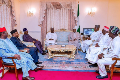 6 governors visit buhari london