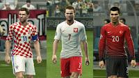 2Kits: Croatia, England, France, Poland, Portugal, Turkey. Pes 2013