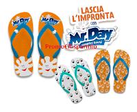 Logo ''Lascia l'Impronta con MR.Day'' e vinci 50 infradito al giorno con suole personalizzate