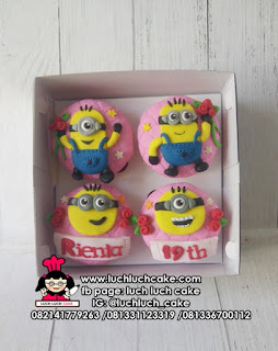 Cupcake Fondant 2D Minion