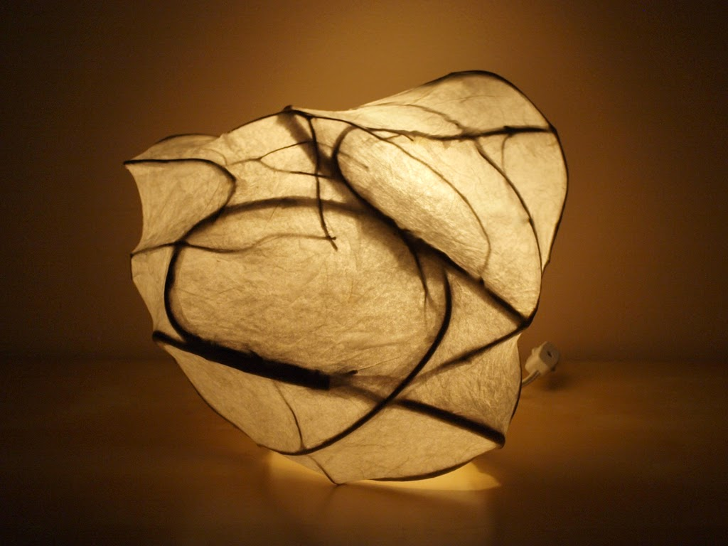 Light in the Woods - handmade light sculpture art lamp by Simcoe artist Joanne Rich