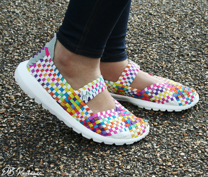 Elast Tessa White Multi Coloured Mary Jane from Hey Dude Shoes