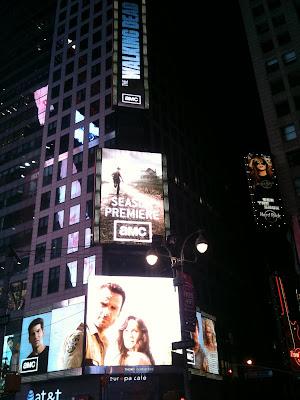 Pubblicità The Walking Dead a Times Square