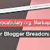 How to Add data-vocabulary.org Markup on Blogger Breadcrumbs?