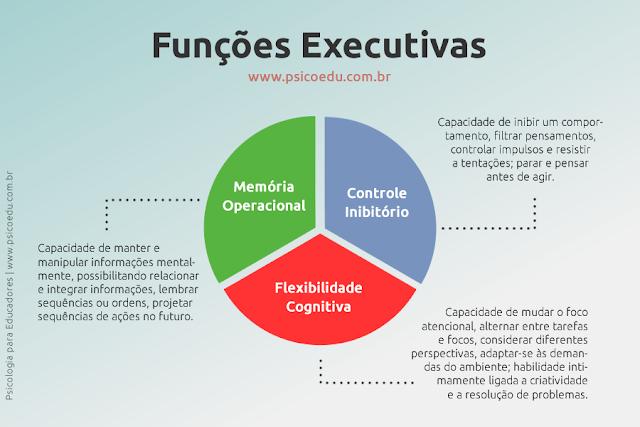 Funções executivas. Controle inibitório, memória operacional, flexibilidade cognitiva