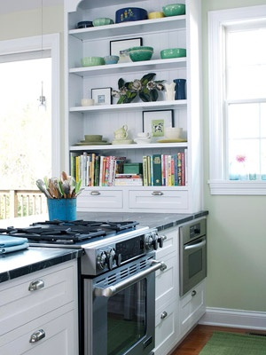 All Things Luxurious: Kitchens and Built-In Bookshelves: A ...