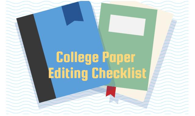 College Paper Editing Checklist