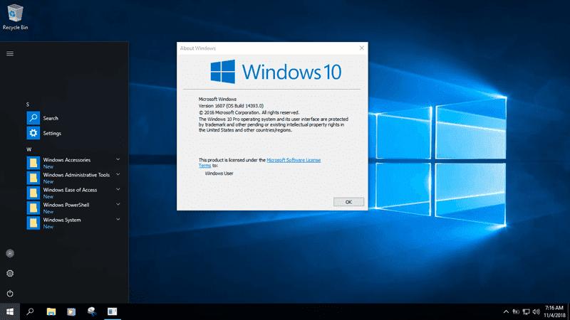 Bộ cài Windows 10 Lite 1607 đượpc làm lại công phu link Google driver trực tiếp xịn