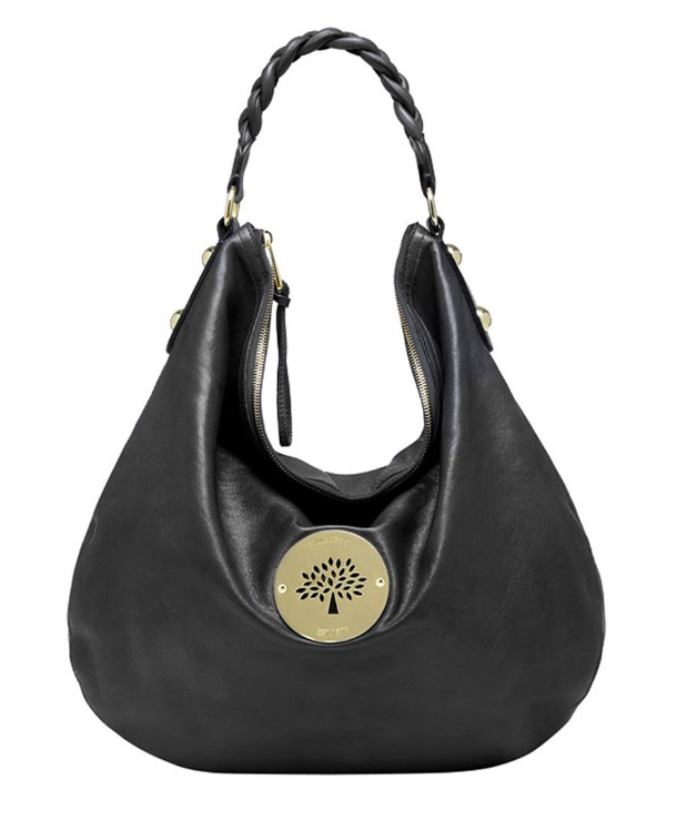 d71b80c63964 -Black Soft Spongy Leather Hobo -Braided leather handle -Oversized rivet  detailing -External Daria cut-out logo plaque -Zip closure