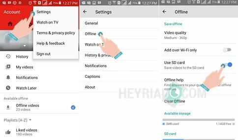 Cara Memindahkan Video Offline YouTube ke SDCard
