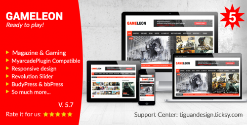 Gameleon v5.7 – WordPress Magazine & Arcade Theme