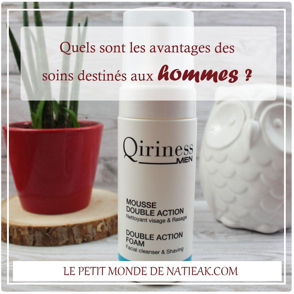 impressions soins hommes Qiriness