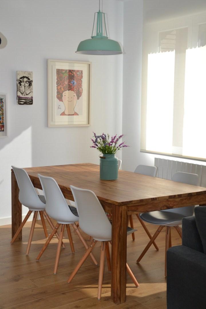 Sala de jantar com decora o de inspirada no estilo n rdico jeito de casa blog de decora o - Piso estilo nordico ...