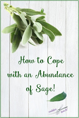pinterest image on an abundance of sage