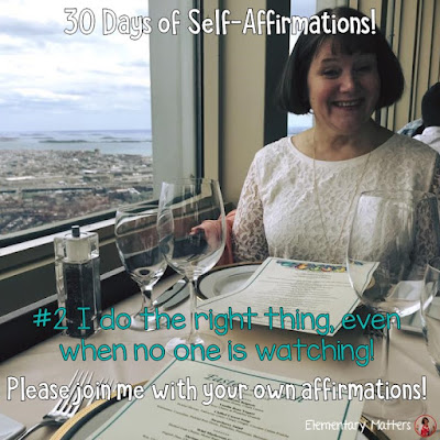 """30 Days of Self-Affirmations: Day 2: I do the right thing, even when no one is watching! For 30 days, I will be celebrating my own """"new year"""" with self-affirmations. If you are interested in joining me, feel free to  write your own affirmations here, or  respond on my social media here: http://bit.ly/2JuKRWa"""