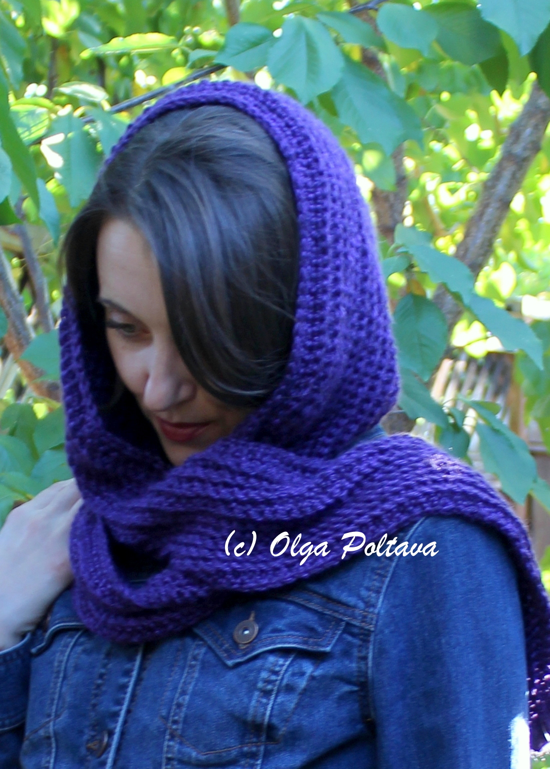 Lacy Crochet: Simple Crochet Hooded Scarf