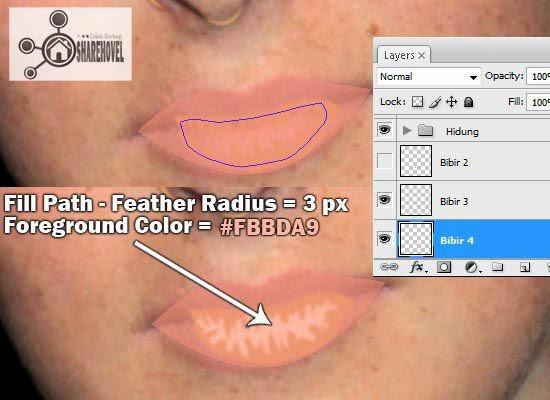 cara membuat vector bibir di photoshop - tutorial membuat vector di photoshop - membuat foto menjadi kartun dengan photoshop