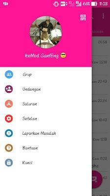 BBM Mod Pink Theme Versi 3.0.0 Android