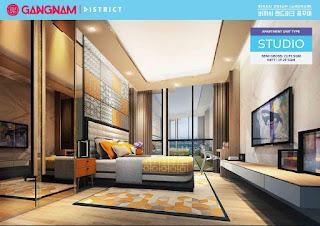 Studio Apartemen Gangnam District Bekasi