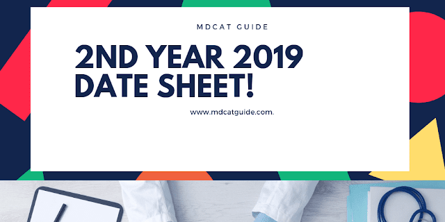 2nd Year Date Sheet