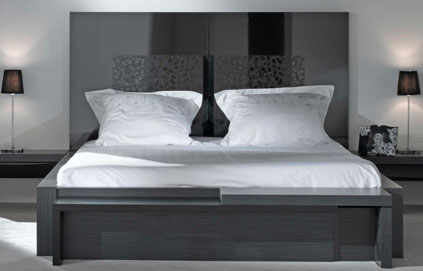 secrets de d co astuce deco cr er une t te de lit avec du papier peint. Black Bedroom Furniture Sets. Home Design Ideas