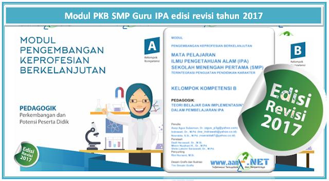 Download Modul PKB Guru IPA SMP revisi tahun 2017