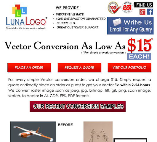 www.lunalogo.com: Raster To Vector Conversion