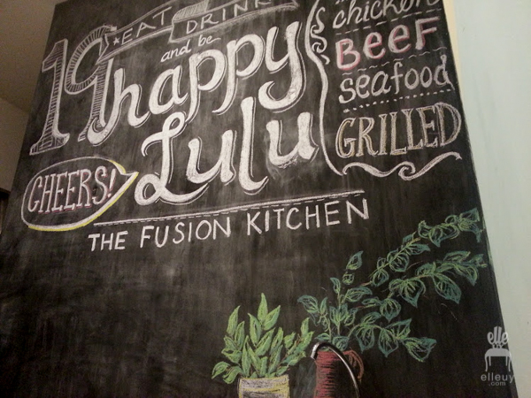 DIY chalkboard art, chalkboard restaurant, happy lulu