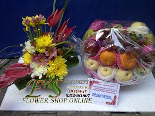 parcel bunga buah untuk ucapan semoga lekas sembuh