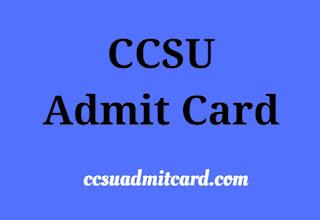 CCSU Admit Card