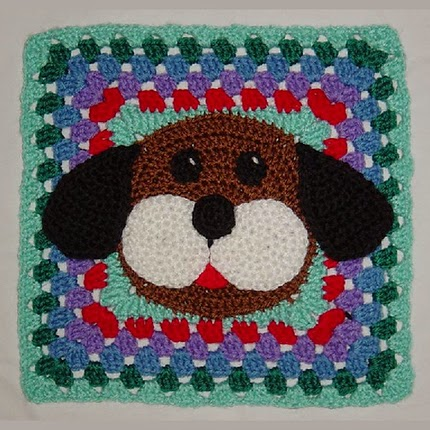 Puppy Dog Granny Afghan Square Free Pattern