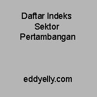 Daftar Indeks Sektor Pertambangan