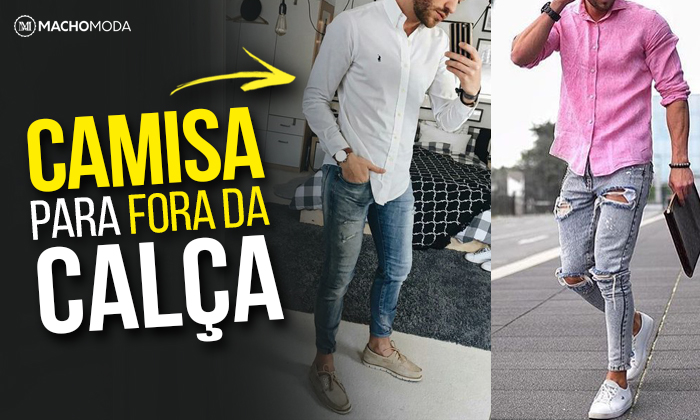 Camisa Social pra fora da Calça, pode ou não pode  Bom, dá SIM pra gente  usar no dia a dia a Camisa em um Visual mais Casual, de uma forma mais ... b14a8fc756